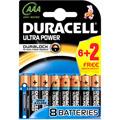 Photos Ultra Power 1.5V/AAA - Pack de 6+2 piles gratuites
