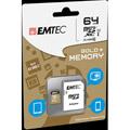 Photos microSDXC 64GB Class10 Gold + adaptateur