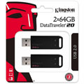Photos DataTraveler 20 USB 2.0 - 64 Go/ Pack de 2