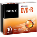 Photos Pack de 10 DVD-R 120 mm 4.70 Go