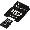 TRANSCEND Micro SDHC 4 Go Class 4 + Adaptateur SD